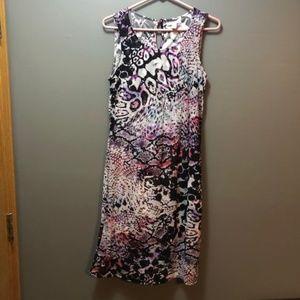 Dana Buchman Printed Short Dress Medium